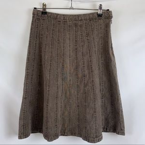 Christopher & Banks skirt brown stretch Size 6